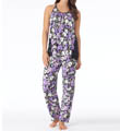Carole Hochman Midnight Flourishing Florals Pajama Set 139905