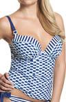 Lucille Molded Plunge Tankini Swim Top Image