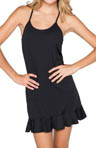 Solids Ruffle Hem Cover Up Dress Image