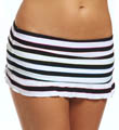 Most Wanted Stripe Ruffle Skirted Swim Bottom Image