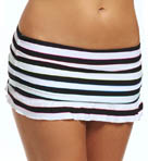 Coco Rave Most Wanted Stripe Ruffle Skirted Swim Bottom R85180