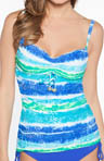 Tye Dye Island Smooth Curves Tankini Swim Top