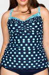 Coco Reef High Tide Mix Tankini Swim Top Plus Size UX9422