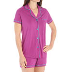 Bella Short Sleeve Top and Boxer PJ Set Image