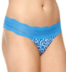 Dolce Printed Blue Thong
