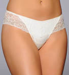 Satin and Lace Low Rise Thong