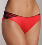 Satin and Lace Low Rise Bikini Panty