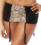 Marlena Satin Animal Print Garter
