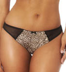 Marlena Satin Animal Print Thong