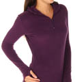 Cuddl Duds Fleecewear with Stretch Long Sleeve Hoodie 8312065