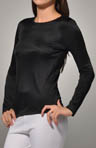Cuddl Duds Softwear Lace Edge Long Sleeve Crew Neck Tee 8412035