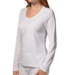 Cuddl Duds Climatesmart Long Sleeve V-Neck Tee 8512041