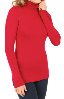 Cuddl Duds Softwear with Stretch Long Sleeve Turtle Neck