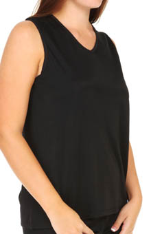 Cuddl Duds Softwear Lace Edge V Neck Tank Plus Size