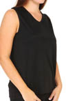 Cuddl Duds Softwear Lace Edge V Neck Tank Plus Size 9212335