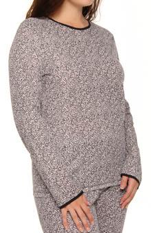 Plus Size Softwear Lace Edge Long Sleeve Crew