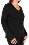 Softwear Lace Edge Long Sleeve V Neck Plus Size