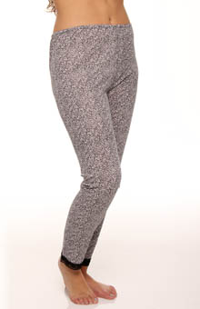 Plus Size Softwear Lace Edge Long Legging