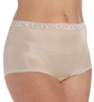 Lorraine Nylon Full Brief with Lace Trim Panty Image