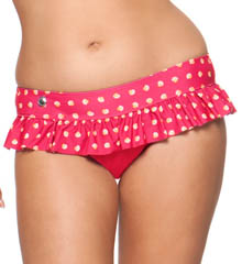 Curvy Kate Seashell Ruffle Swim Brief Swim Bottom CS1335