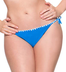 Curvy Kate Coral Reef Ruffle Side Tie Swim Bottom CS1515