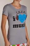 I Heart Music SS Tee