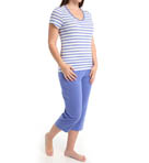 Dearfoams V Neck Capri PJ 142106