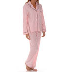 Dearfoams Long Sleeve Notch Collar Printed PJ Set 143119