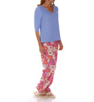 Dearfoams Gathered V Neck Printed PJ Set 143136