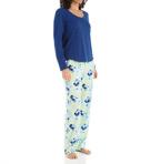 Scoop Henley And Fleece Pant PJ Set Image