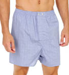 Derek Rose Felsted Blue Classic Cotton Boxer 6000-FELS