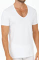 Derek Rose Pima Cotton Stretch V-Neck Tee 8025-JACK