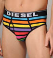 Rainbow Striped Cotton Stretch Brief Image
