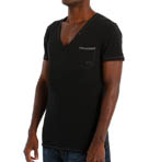 Jesse Cotton Stretch Deep V-Neck T-Shirt
