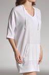 3/4 Sleeve Sleepshirt With Hood