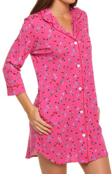 Print Party 3/4 Sleeve Sleepshirt