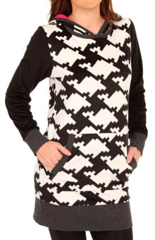 DKNY Urban Strokes Long Sleeve Sleepshirt with Hood 2313194