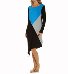 DKNY Color Block Long Sleeve Sleepshirt 2313269