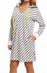 DKNY The Bright & The Beautiful L/S Hooded Sleepshirt 2613216