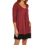 Seven Easy Pieces 3/4 Sleeve Sleepshirt Image