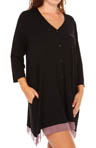 Plus Size 3/4 Sleeve Sleepshirt