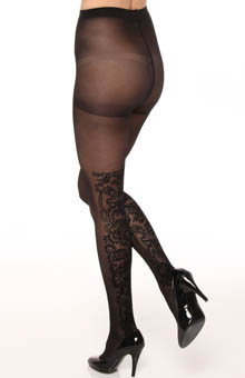 DKNY Hosiery Evening Velvet Panel Tight 0B484