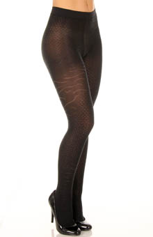 Evening Novelty Animal Skin Texture Tight
