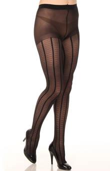 DKNY Hosiery Feminine Fine Gauge Plaid Control Top Pantyhose 0B546