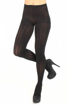 DKNY Hosiery Rib Texture Control Top Tight