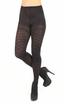 DKNY Hosiery Chevron Texture Control Top Tight 0B698