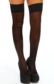 DKNY Hosiery Sheer Tights Thigh High 0B730