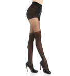 DKNY Hosiery Sheer Tights Lowrise Over the Knee Illusion 0B731