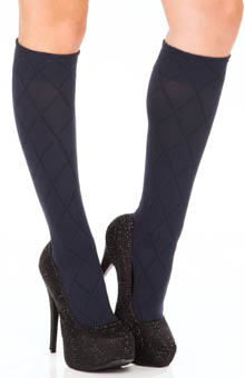 DKNY Hosiery Knee Socks Diamond Texture 0B736