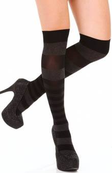 DKNY Hosiery Pattern Stripe Knee Socks